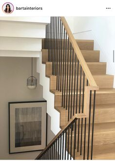 Modern Staircase Design Ideas - Stairs are so usual that you don't give them a doubt. Have a look at best 10 examples of modern staircase that are as spectacular as they are . Stairway Railing Ideas, Stair Railing Design, Staircase Pictures, Staircase Decoration, Modern Stair Railing, Wood Handrail, Staircase Handrail, Open Staircase, Bannister