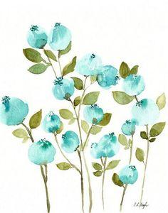 HEIDELBEEREN-ORIGINAL AQUARELL AQUARELL DIESES ANGEBOT BEINHALTET: Ein original-Aquarell von türkis blaue Beeren mit grünen Blättern auf strukturiertem Aquarellpapier. GRÖßE: 11 x 14 Zoll MATERIALIEN: 140£ Coldpress Aquarellpapier, professionelle Aquarellfarben DETAILS: -Keine