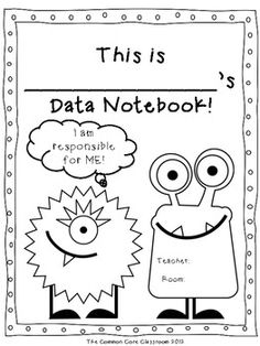 Data Notebook Cover Page *FREEBIE* - The Common Core Classroom - TeachersPayTeachers.com