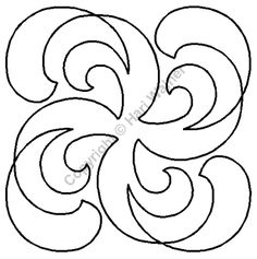 "Continuous Line Quilting Stencils | Continuous Line Quilting Stencils > 9"" - 10"" Block C.L. - Item: 9"" on ..."