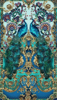 Azure, Turquoise blue peacock print fabric called Hyde Park, from Timeless Treasures. 24 Peacock Panel - Full width of fabric shown Peacock Decor, Peacock Colors, Peacock Art, Peacock Feathers, Peacock Fabric, Peacock Curtains, Peacock Images, Peacock Painting, White Peacock