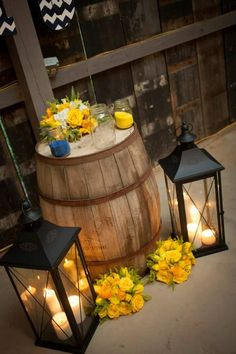 Navy & Yellow wedding Barn wedding