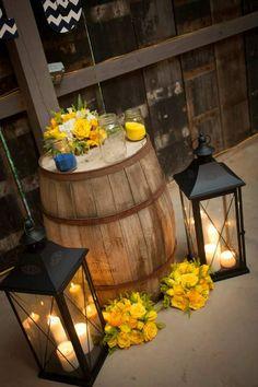 Navy & Yellow wedding Barn wedding