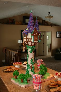 impressive tangled tower cake...Mallory would freak out if she saw this cake!