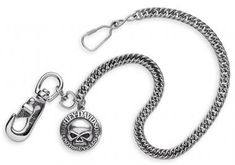 Harley-Davidson wallet chain with skull