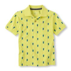 Give him the ultimate summer look with this pineapple-print polo top!