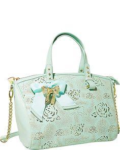 RACEY LACEY SATCHEL MINT accessories handbags non leather satchels