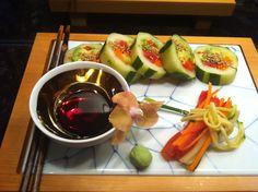 Vegan unroll sushi