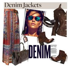 """""""Snake Skin Denim Jacket"""" by clotheshawg ❤ liked on Polyvore featuring Etro, Todd Oldham, Alima, Steven by Steve Madden, Yves Saint Laurent and Fallon"""
