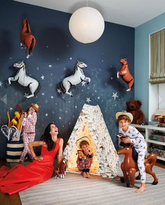 Love the horse balloons! Patricia Herrera Lansing // photo by Christopher Sturman from Haper's Bazaar