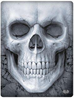 Solemn skull - Plaid - Crâne tête de mort - 150x200 Boutique gothique