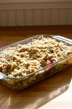 Rubarb crisp...I cut most of my daughter's Rhubarb down this weekend so I am going to make these this week.