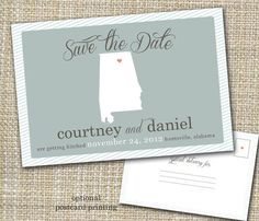 save the date postcard option  save our spot. by westwillow, $15.00