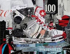 """Footsteps: A Sneaker"" ~ Torn Paper Collage by Nancy Standlee Contemporary Painter"