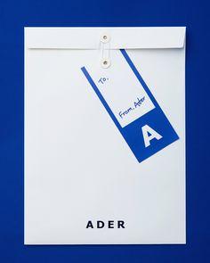 Ader Error, Brand Packaging, Guide Book, Visual Identity, Envelope, Branding, Layout, Symbols, Letters