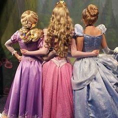 Rapunzel, Aurora, & Cinderella
