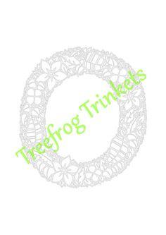 CYO Papercut Template Letter O by TreefrogsTrinkets on Etsy