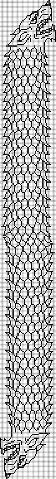 Double-Knitted House Stark Direwolf Scarf pattern by Katie Dawson