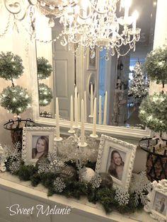 Shabby chic Christmas Home tour - Debbiedoo's
