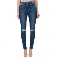 Shop Paige Premium Denim at Bliss - We have the Margot Ultra Skinny in Dedee Destructed! Paige Denim, Fitness Models, Product Launch, Skinny Jeans, Simple, Pants, Shopping, Fashion, Trouser Pants