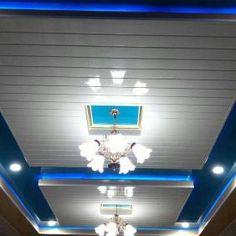 HARGA PLAFON PVC MADIUN Lcd Wall Design, Pvc Ceiling Design, Ceiling Fan, Ceiling Lights, Track Lighting, Home Decor, Roof Design, Presents, Interiors