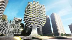 This Tree-Shaped Farm-On-A-Skyscraper Could Bring Acres Of Crops Into The City tree