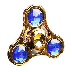 Afco Rhinestone Tri Spinner Finger Relieve Stress Fidget Figure Toy-Random Color
