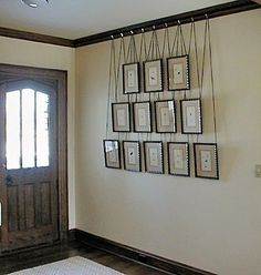 cool way to mount picture frames