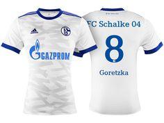 Schalke 04 #8 Leon Goretzka 17-18 Away Short Shirt