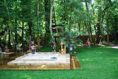 """Wow. This """"splash pad"""" is amazing. Great idea even if you have a small yard and don't want the upkeep of a pool."""