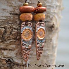 https://flic.kr/p/rwdvfJ | Golden. #copper #earrings #kristibowmandesign