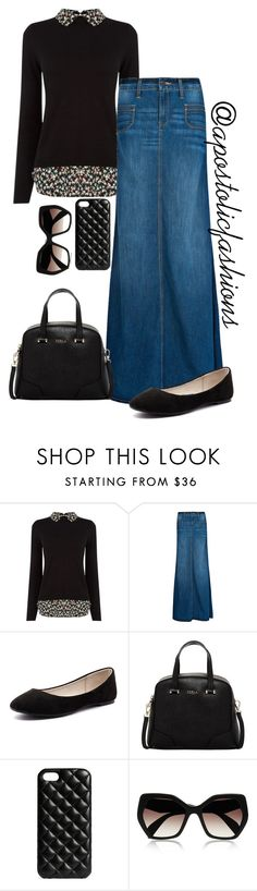 """Apostolic Fashions #1110"" by apostolicfashions on Polyvore featuring Oasis, MANGO, Verali, Furla, The Case Factory and Prada"