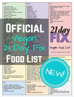 I'm so excited to announce that Beachbody has released a brand new Vegan 21  Day Fix Meal Plan for Beachbody Club members, including new modifications  and a new food list.  I can't wait to try it out!  If you have a Club  membership, just log in and go to Beachbody On Demand.  In your member  l