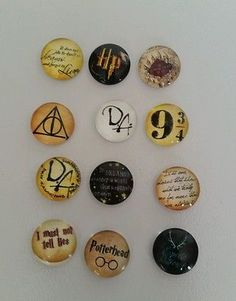 12 Harry Potter 12mm glass cabochons: jewellery, necklace, favor, craft, etc.
