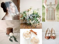 Sophisticated Autumn Wedding Colours - warm chocolate and cinnamon with the gorgeous depth of the muted green with white