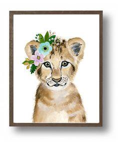 Safari de la crèche des bébés lionceau peintures danimaux