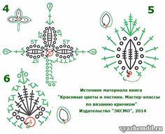 схемы листьев 4-6