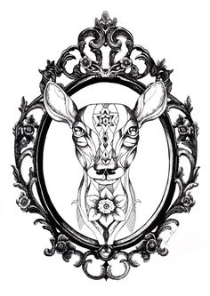 Deer Tattoo by *TheFranology on deviantART