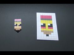 School Pencil Perler Bead Pattern.  Laceys Crafts is all about sharing super simple and adorable crafts for kids. Enjoy!