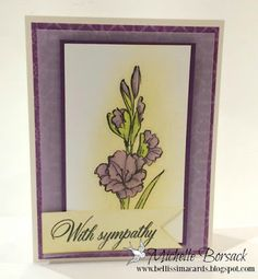 Bellissima Cards: Sympathy Cards in Purple