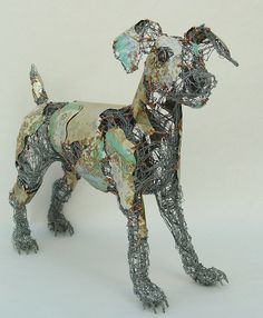 Awesome sculptures by Barbara Franc from recycled materials