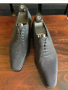 Gaziano & Girling Deco Cooper Gray Stingray Mens Shoes Boots, Shoe Boots, Mens Gear, Luxury Shoes, Stylish Men, Beautiful Shoes, Shoe Collection, Me Too Shoes, Fashion Shoes