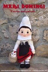Patrón para hacer a Mari Domingi en muñeca amigurumi a ganchillo o crochet.