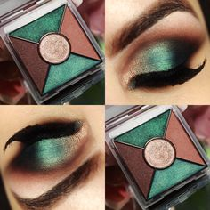 Quinteto de sombras Midnight Jewels cor Emerald Noir da Mary Kay