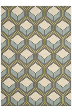 Safavieh Hampton HAM512 Dark Grey Light Blue Rug