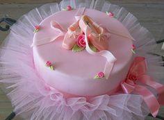 Adorable ballerina cake.