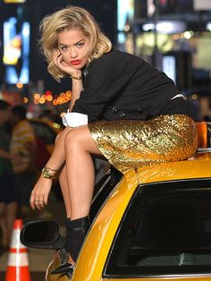 We knew back in July that Rita Ora had taken over from her wifey, Cara Delevingne, as the face of DKNY as she was spotted shooting in Times Square splattered in DKNY.