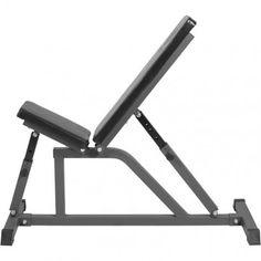 Multifunctionele fitnessbank (zwart / grijs)