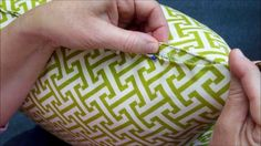 How To Hand Sew A Pillow Closed Great tutorial video using a Ladder Stitch also shows how to knot without the thread tail.