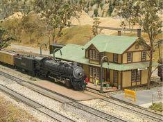 model railroad - train stop